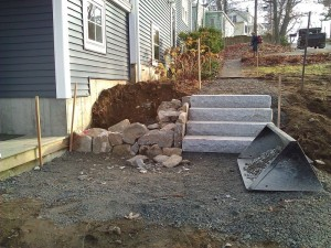 Building Building a fieldstone wall in Billerica, MA